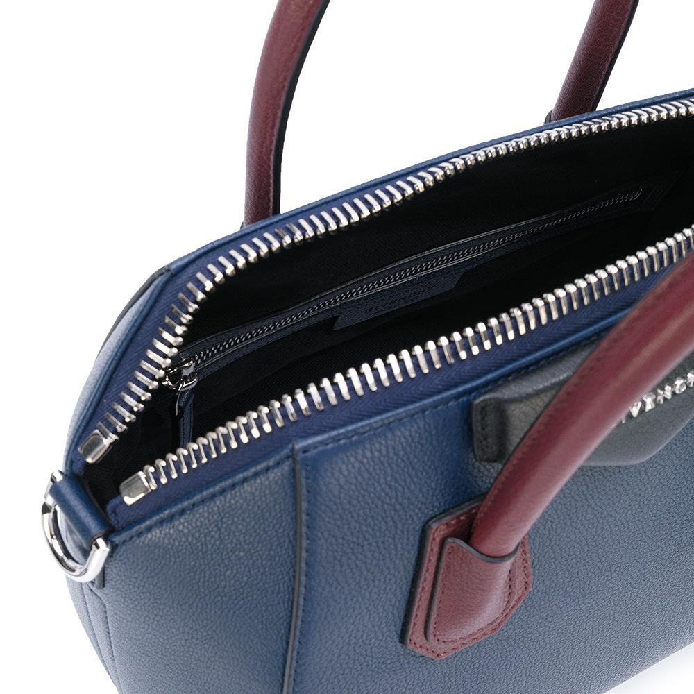 e5ace15afad Givenchy Antigona Leather Bag – Navy Burgundy   The One and Only ...