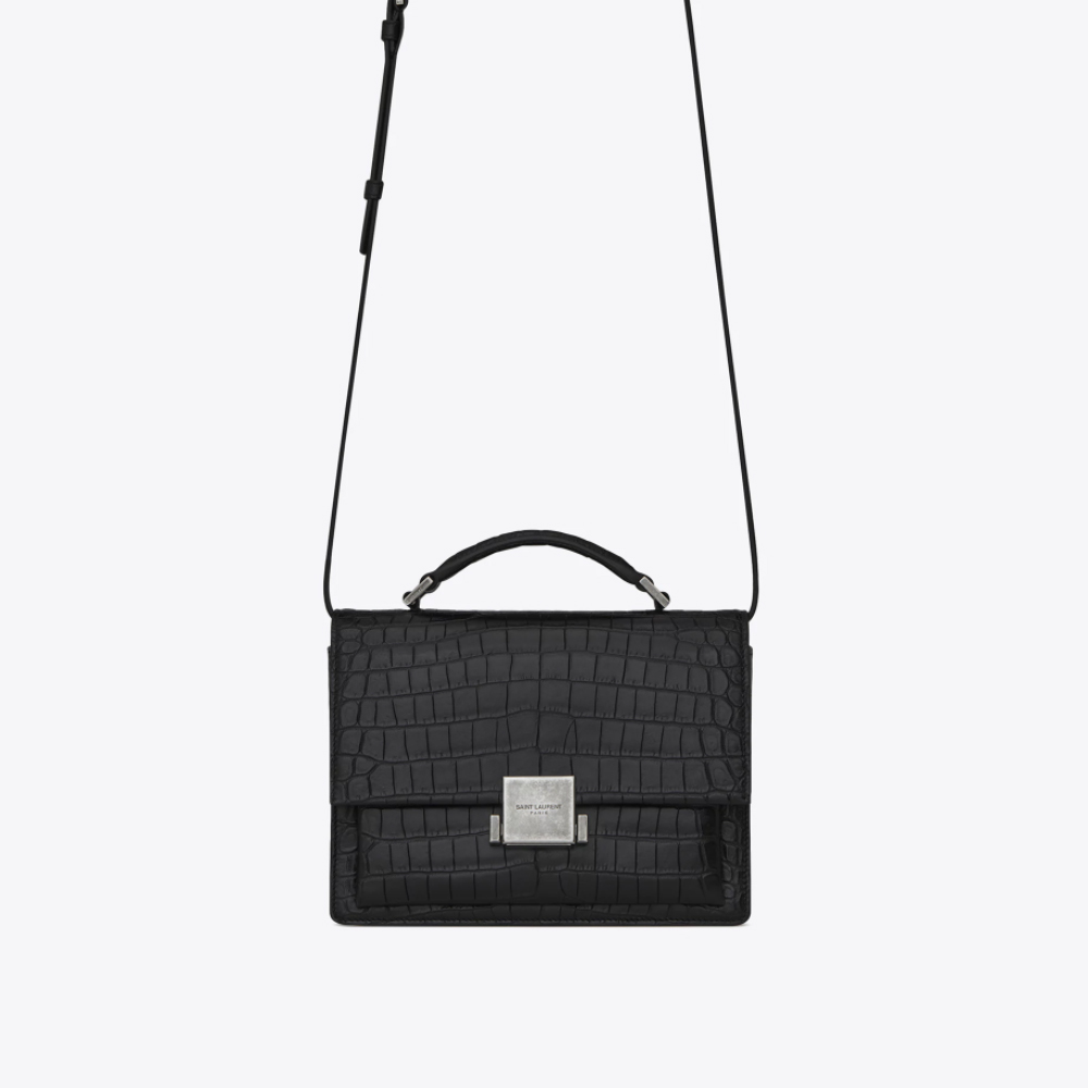 ae5eaf984e YSL Medium Bellechasse Bag -croc Black | The One and Only Designer Sale